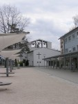 Pauluskirche vom Rathaushausplatz gesehen