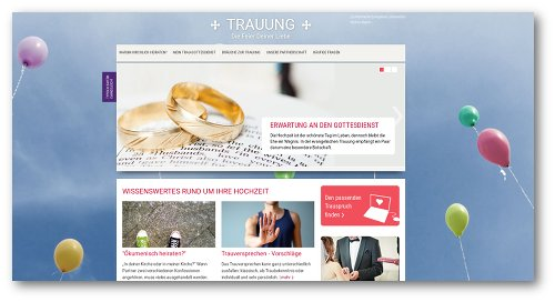 Trauung Website der Landeskirche