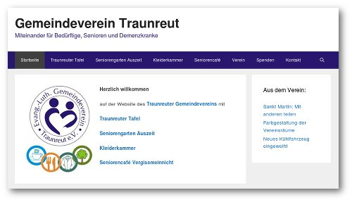 Website Gemeindeverein